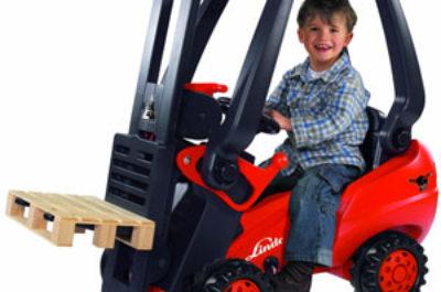 Kinderfahrzeug Gabelstapler