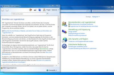 Windows 7 Jugendschutz