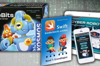 Weihnachtsgeschenke für Kinder von KOSMOS, Clementoni oder ein Lehrbuch für die Programmiersprache Swift. Programmieren lernen für Kinder.